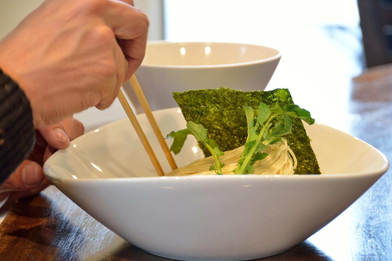 担担麺のつけ麺は珍しいとか。特に自家製の細麺で提供している店はかなり希少だそうです