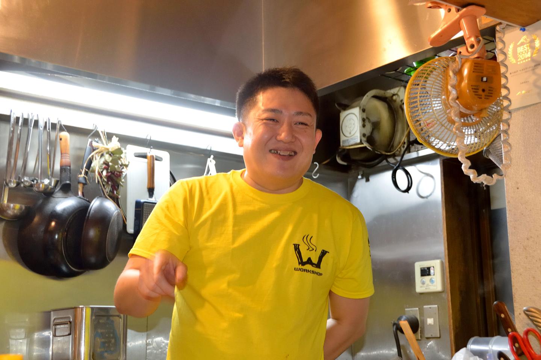 カボちゃんこと窪川剛史さん。笑顔が似合う柔和な人柄で、ラーメン店主をはじめたくさんの知り合いがいるそうです