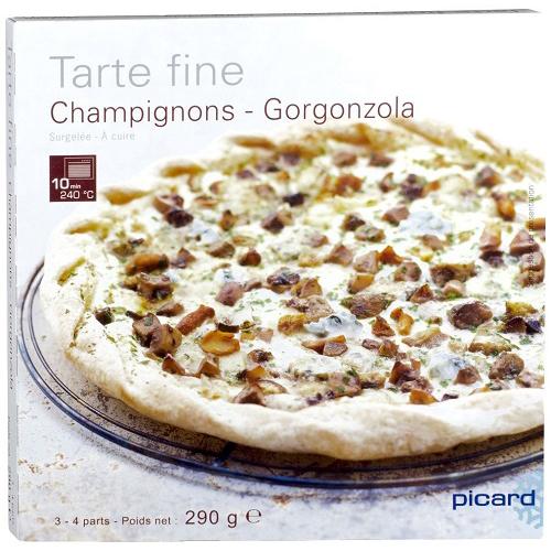 きのことゴルゴンゾーラチーズの薄生地タルト