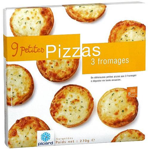 3種類のチーズのミニピッツァ