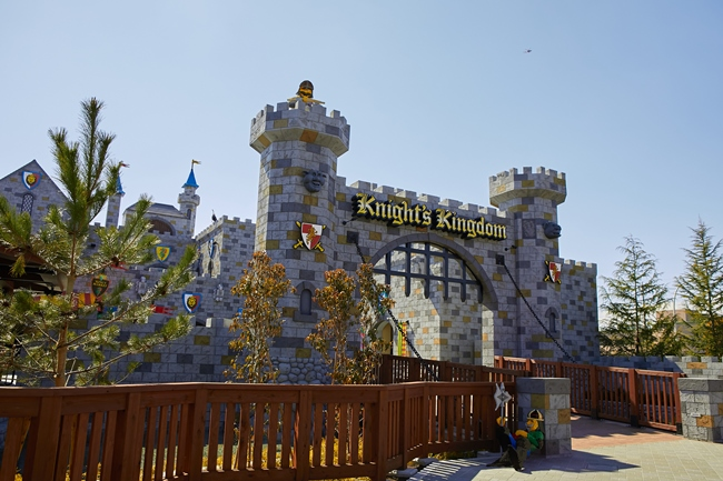中世の騎士がテーマの「ナイトキングダム」エリア