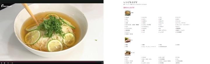 検索一覧が食材、ジャンル、レシピを考案した料理人別に分かれ、それぞれが細分化されているので、メニュー探しも楽チン。また作った自慢の料理は、「ごちそうフォト」としてアップしサイトのユーザーと共有できるのも楽しいポイントです。