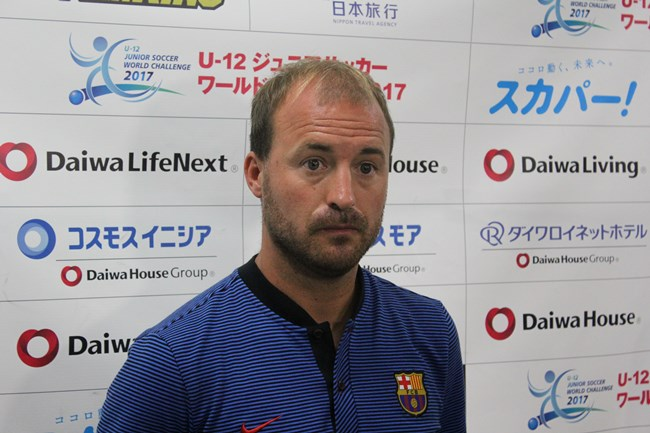 FCバルセロナのダビド・サンチェス・ドメネ監督
