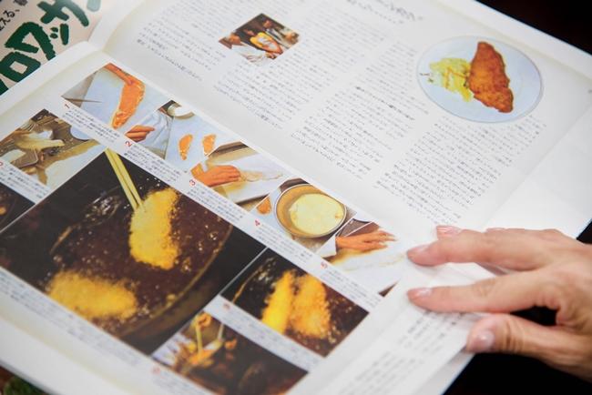 トンカツのページには、レシピにとどまらず、「たいめいけん」の創業者・茂出木心護さんによるお店での思い出話も加えられ、東京の洋食の歴史まで伝わってくるようだ