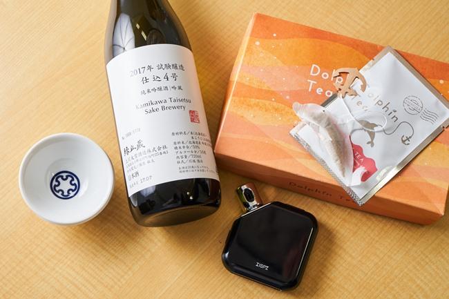 北海道に戦後初めてできた酒造会社「上川大雪酒造」の試験醸造酒、アルコール濃度を測定するガジェット「TIPSY」、熊本発のイルカの形をしたティーバッグなど、Makuakeには食に関するプロジェクトも多い