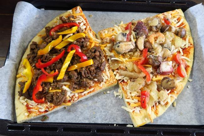 大きめにカットしたピザもらくらく収まる庫内の広さが魅力