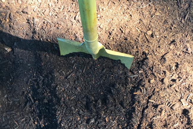 美味しい野菜を育てるポイントは土作りが一番。腐葉土などをたっぷり土に混ぜ込みましょう