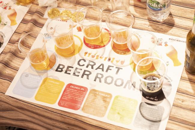同イベントでは、グランドキリンのほか、「YONA YONA ALE」や「COPELAND」などまったく味わいの異なる6種のクラフトビールを飲み比べするコーナーもありました