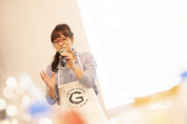 コス子さんもイベントに参加し、コストコ食材とクラフトビールとのマリアージュと考案した食事について、熱のこもった解説をしてくれました