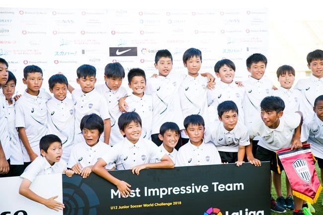 ↑今大会から設置されたモスト・インプレッシブチーム賞にはヴィッセル神戸U-12が選出。ローマやパリ・サンジェルマンなど強豪チームが参戦するTorneo Internacional La Liga Promisesの参加権が与えられた。