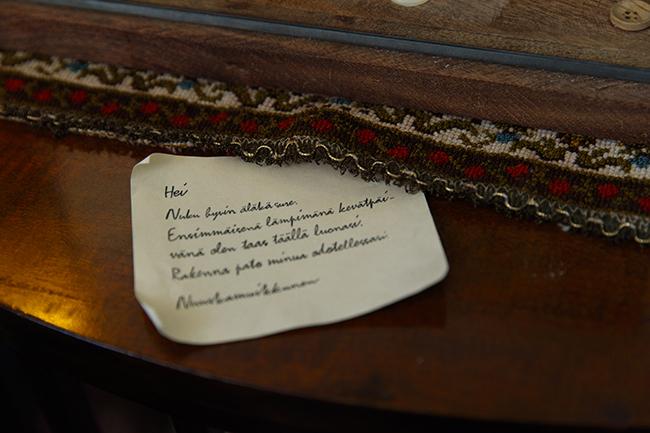 このフロアのどこかには、冬眠中のムーミンに宛てたスナフキンからの手紙が置いてあります。あまりにさりげなく置いてあるので、見逃さないように気をつけて。