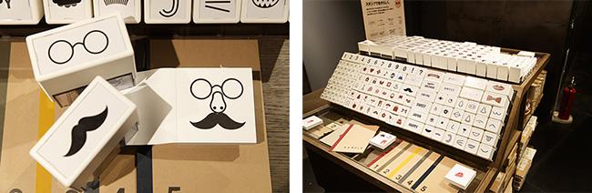 他店でも人気のスタンプサービスもありました。ここで購入したノートやメモの紙製品やラッピング袋に、好きな図案のスタンプを押すだけで、オリジナルデザインの完成です。