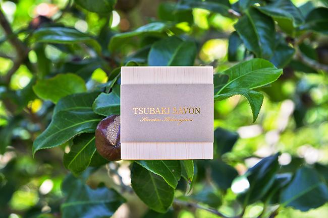 自生のツバキから採った椿油の洗顔石鹸