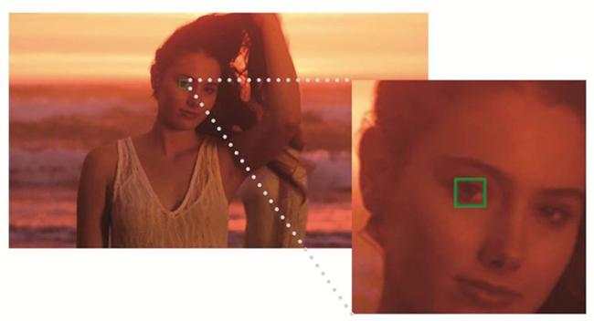 ↑人物の瞳を検知して自動でピントを合わせます。美しいポートレートを簡単に撮影可能