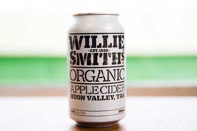 ↑近々、inCiderJapanを通して日本で販売されるオーストラリア産サイダー。「Willie Smith's(ウィリー・スミス)」