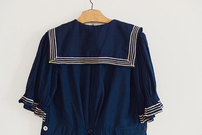 いわゆるセーラー服のデザインだが「実は水着として作られたものなんです」。