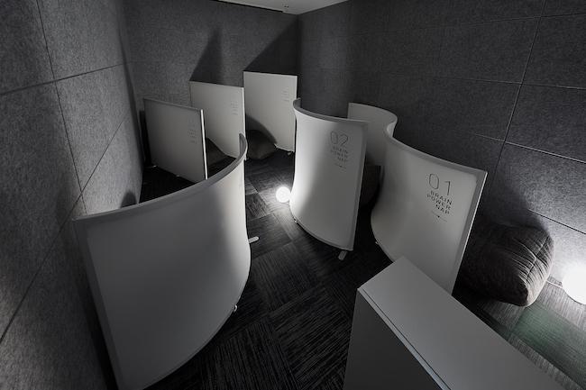 この仮眠室は、ダイワハウスグループのデザインアークと一緒に作ったという。