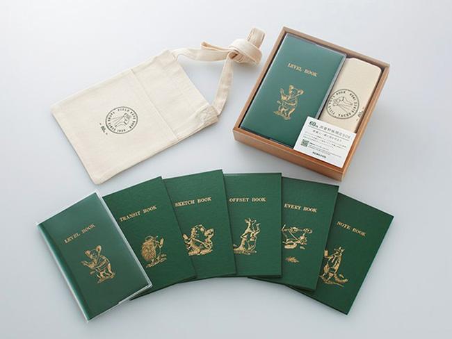 2019年には、特別なイラストを施した60周年記念の測量野帳と、それを収納するサコッシュを付属したセットなどが数量限定で発売された。イラストは、測量野帳がポケットサイズであることから、有袋動物が描かれている。