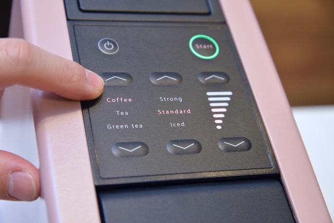 カプセル×設定で、味の組み合わせは50通り以上。カプセルには紅茶や抹茶などもあり、さらにはカプセルではないレギュラーコーヒーを使える自由度の高さも魅力です。
