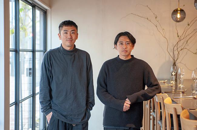 江本さんとともにKabiをオープンさせた、オーナーシェフの安田翔平さん(左)。