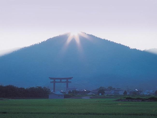 そうめん発祥の地・奈良県桜井市にある三輪山。(画像提供:三輪明神大神神社)