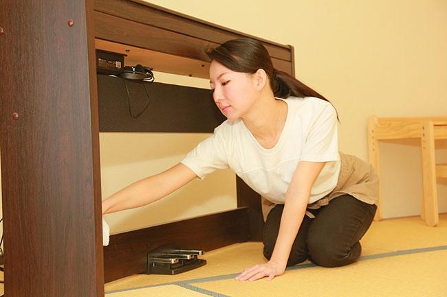 整理収納アドバイザーで、生活空間を清潔に保つ「クリンネスト」の資格を持つ綾部奈美さん。