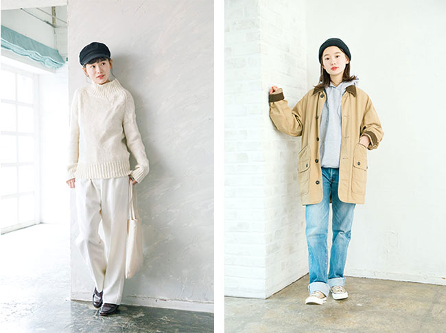 辻さんが上京するきっかけとなったファッションメディア「mer」。現在は、雑誌からウェブ媒体へとチャネルを移行していますが、変わらず等身大の「辻千恵」が見られる場所。私服などからも、飾らない人柄が透けて見えるよう。