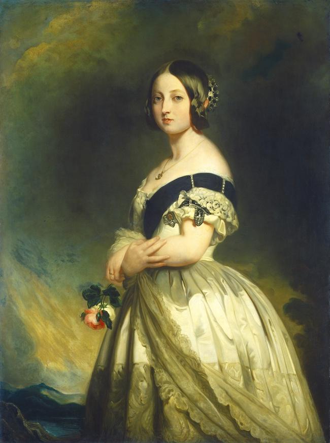 1837年から1901年まで在位したヴィクトリア女王。初代インド皇帝でもあり、大英帝国の繁栄の象徴的存在。