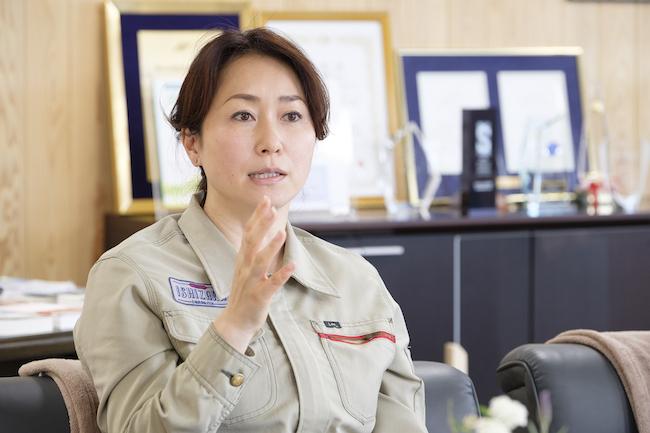 石坂産業の取締役社長を務める、石坂典子さん。