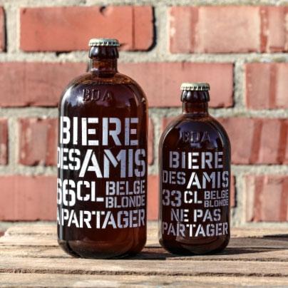ベルギーのノンアルコールドリンク「ビアー・デザミ」(330ml 675円)。「アサヒ ビアリー」同様にビールからアルコールのみを除去し、アルコール入りのビールと遜色ない味に仕上げています。