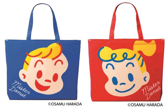 2020年には、ミスタードーナツ事業創業50周年を記念して、「ミスド×原田治 エコバッグ」が販売されました。